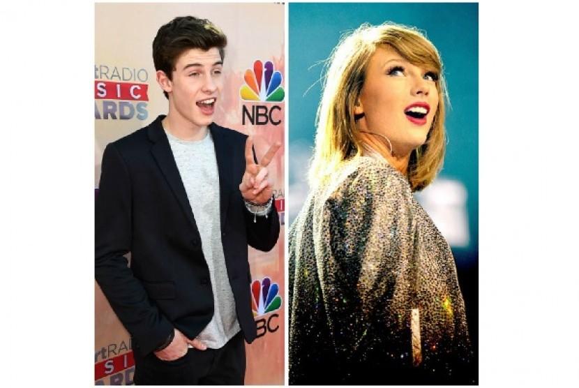 Shawn Mendes dan Taylor Swift.