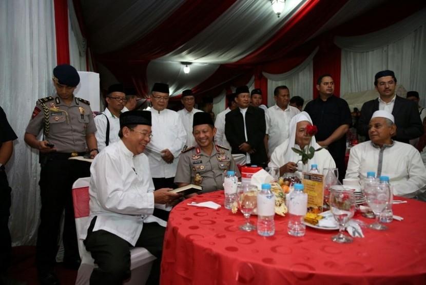 Silaturahmi akbar Polda Jateng dengan ulama se-Jawa Tengah di Lapangan Polda, Semarang, Jawa Tengah