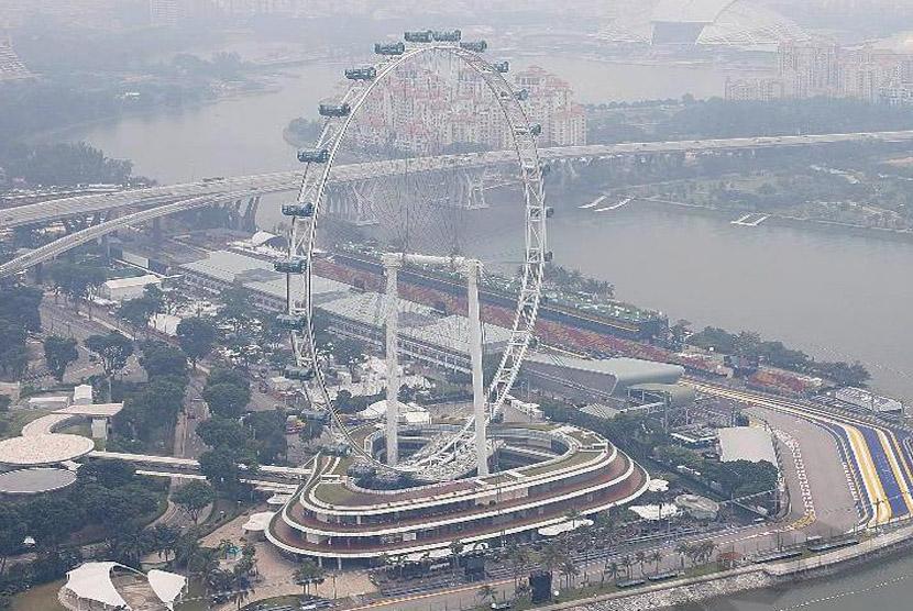 Suasana kepadatan lalulintas di Singapura (ilustrasi)