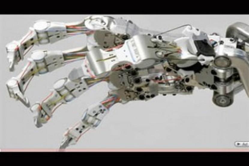 Sistem lengan dan tangan robot