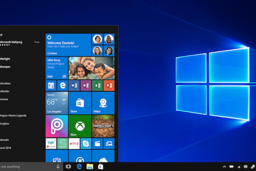 Sistem Microsoft Windows. Ilustrasi