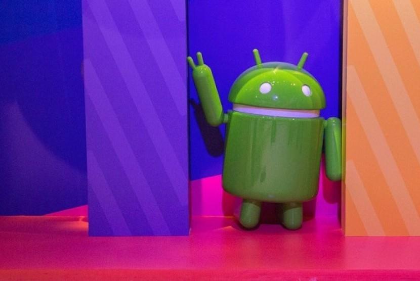 Sistem operasi Android. Ilustrasi