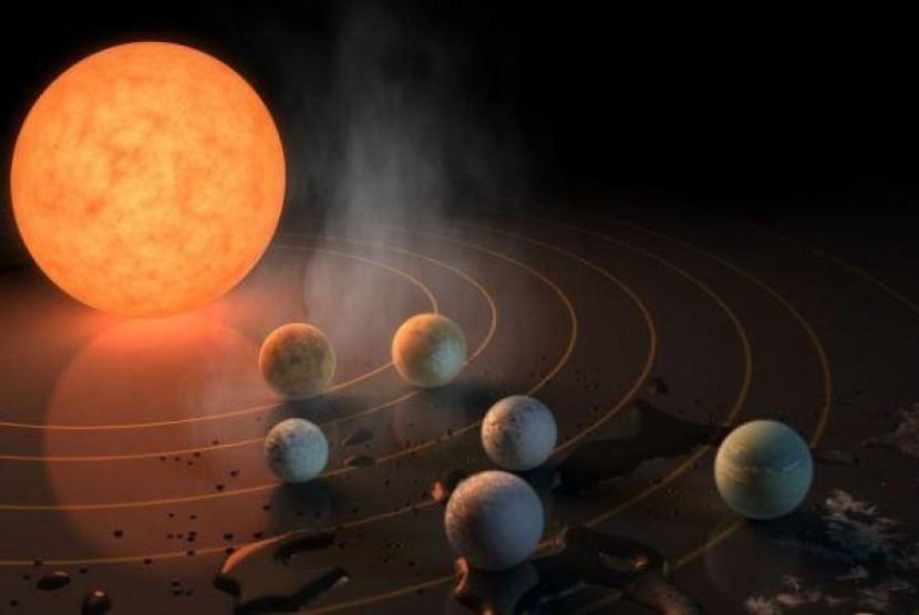 Sistem tata surya TRAPPIST-1 memiliki 7 planet yang diperkirakan sama ukurannya dengan planet bumi dan tiga planet di zona 'Goldilocks'.