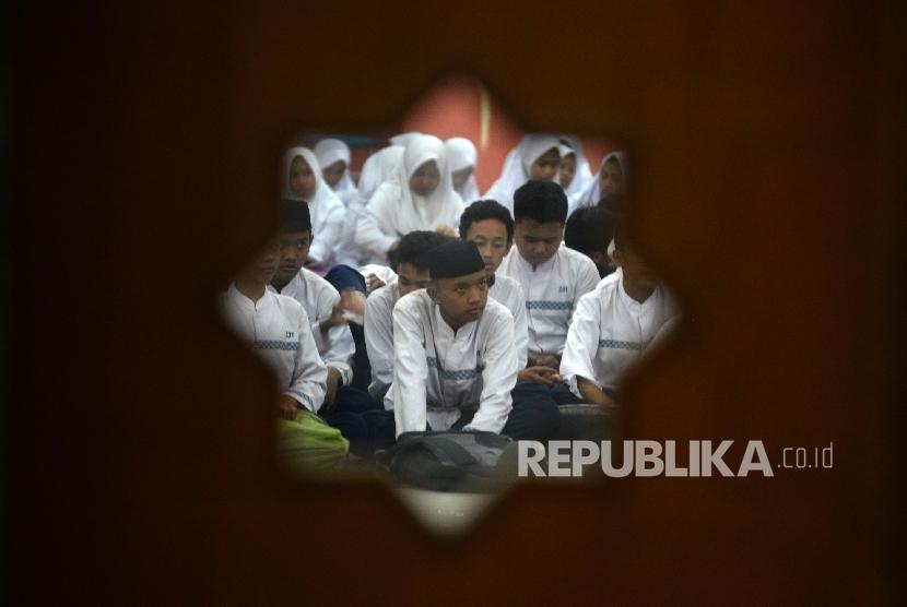 Ilustrasi pesantren Ramadhan.