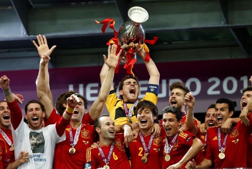Skuat Spanyol Juara Piala Eropa 2012