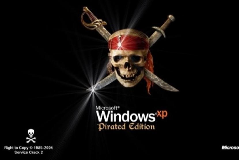 Software bajakan (ilustrasi)