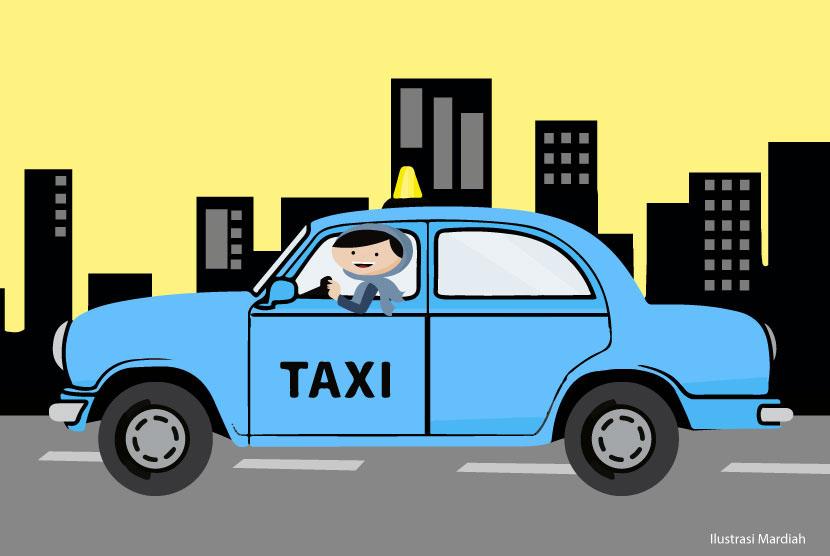Sopir taksi wanita (ilustrasi)