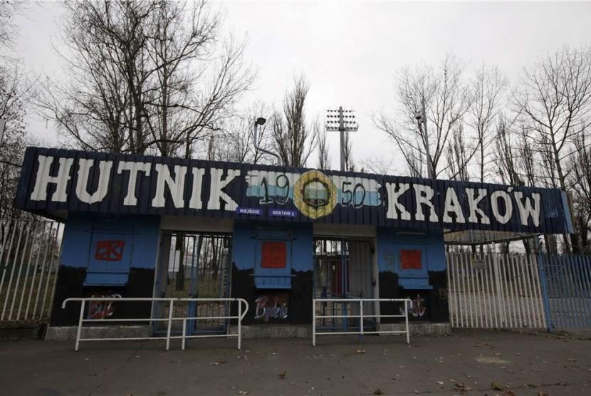 Stadion Hutnik di Krakow, Polandia, menjadi tempat kamp pelatihan timnas Inggris sepanjang pelaksanaan Piala Eropa 2012.