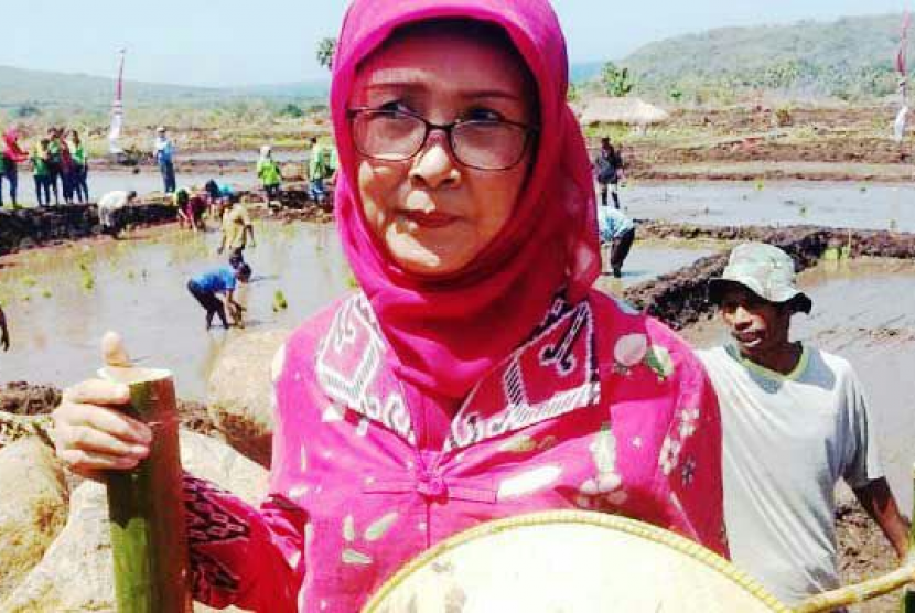 Staf Ahli Menteri Pertanian Bidang Infrastruktur, Ani Andayani yang juga sebagai Penanggung Jawab Upaya Khusus (UPSUS) Pajale (Padi, Jagung, Kedelai) Provinsi Nusa Tenggara Timur (NTT).