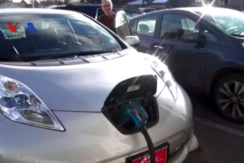 Stasiun isi baterai mobil listrik di AS