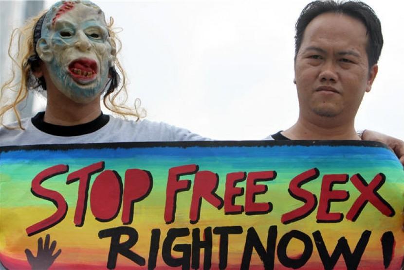 Stop seks bebas (ilustrasi)