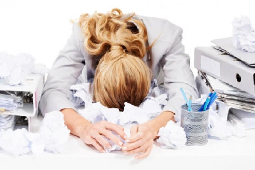 Stres juga bisa memicu masuk angin (ilustrasi)