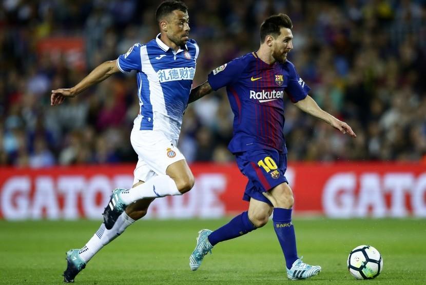 Messi Hattrick, Barca Menang 5-0 Atas Espanyol