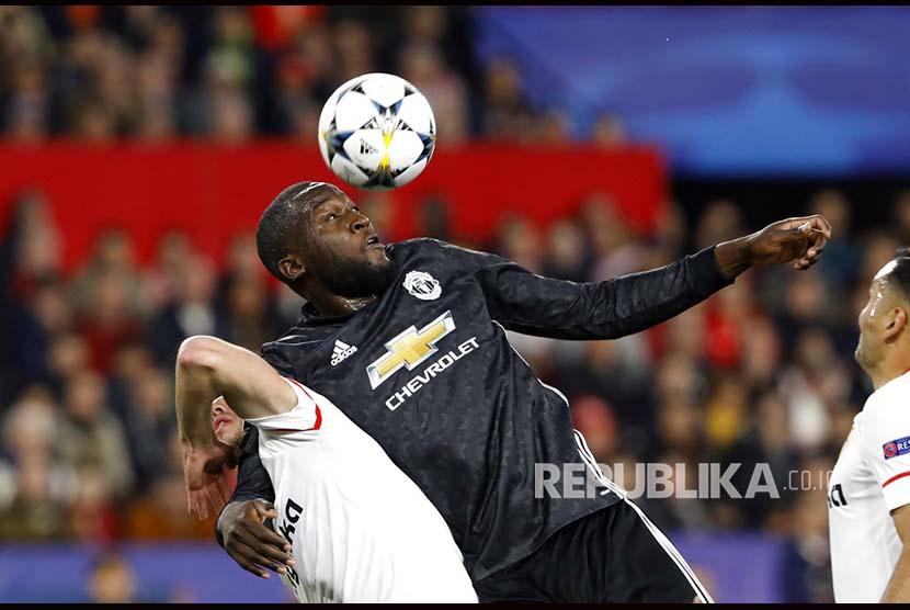 Striker Manchester United Romelu Lukaku.