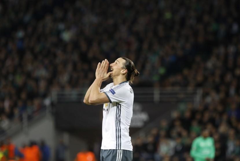 Striker Manchester United, Zlatan Ibrahimovic.