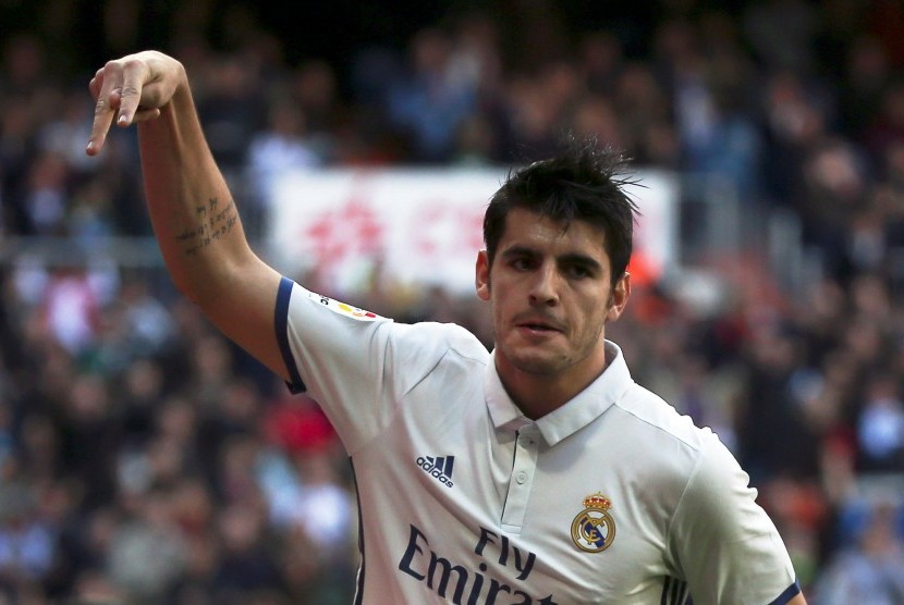 Striker Real Madrid, Alvaro Morata.