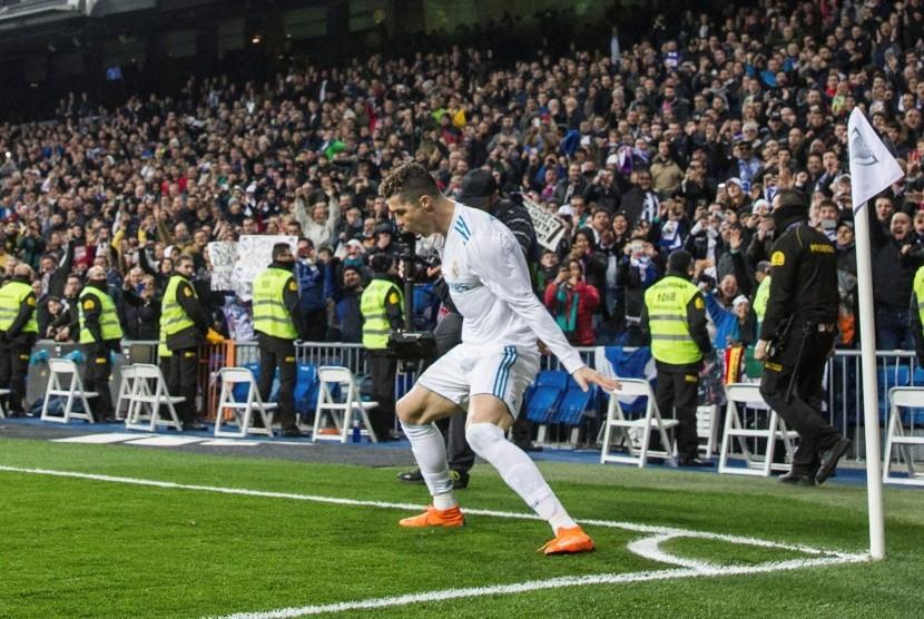 Ronaldo Cetak Empat Gol ke Gawang Girona