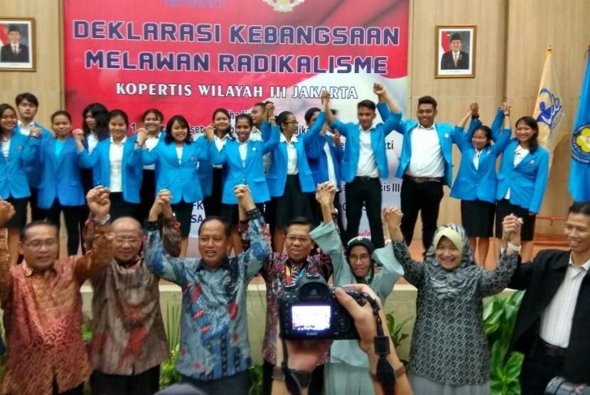 Suasana Deklarasi Kebangsaan Melawan Radikalisme di Jakarta, Selasa (19/9).