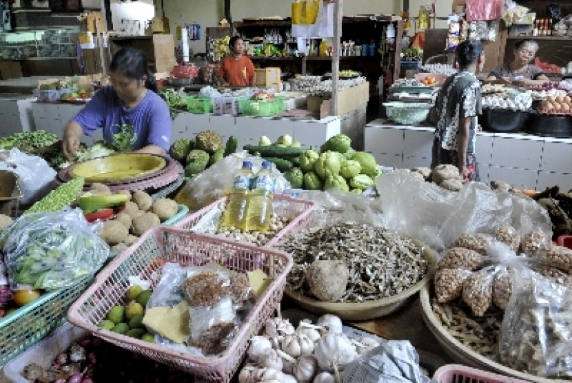 Suasana di salah satu pasar tradisional.