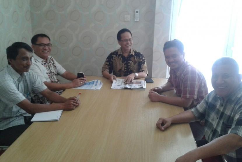 Suasana diskusi bulanan Indonesia Bermutu di Jakarta, Selasa (23/8/2016).