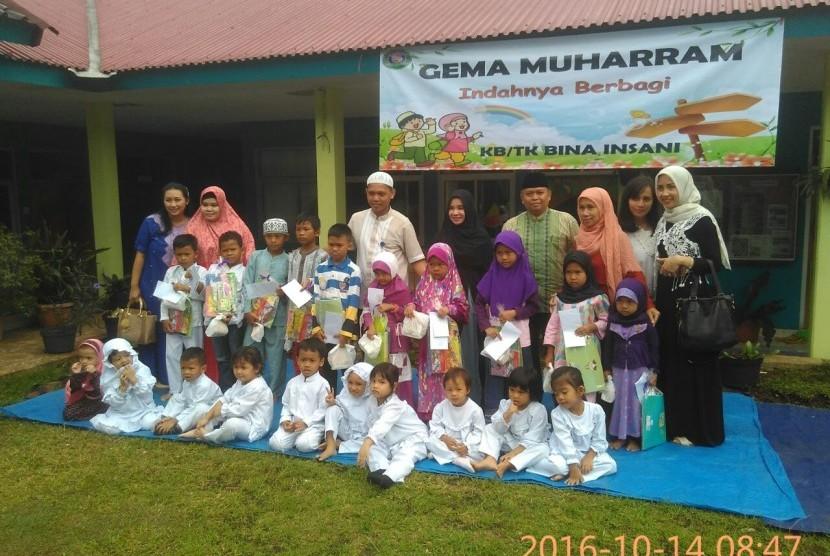 Suasana Gema Muharam 1438 H di KB-TK Bosowa Bina Insani Bogor.