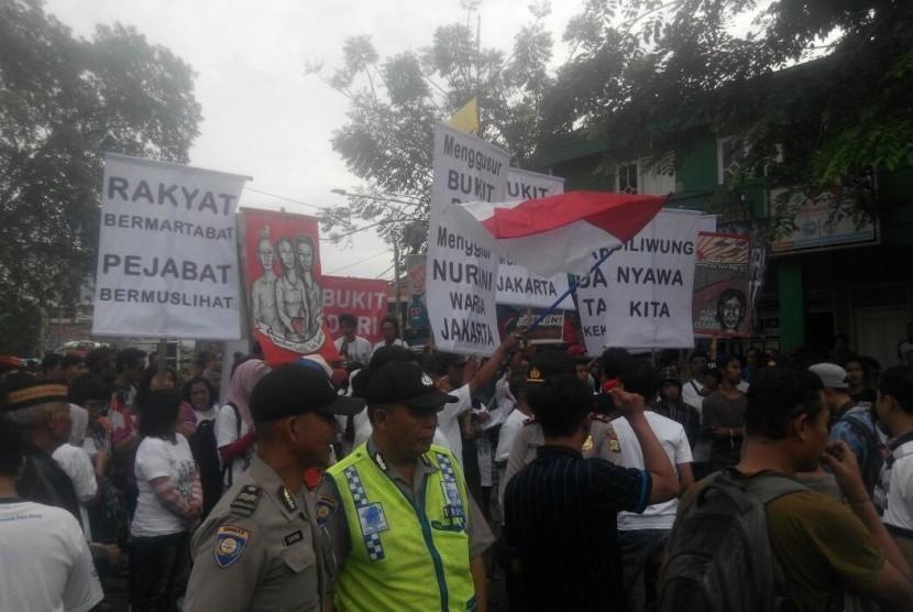 Suasana jelang penggusuran kawasan Bukit Duri, Rabu (28/9).