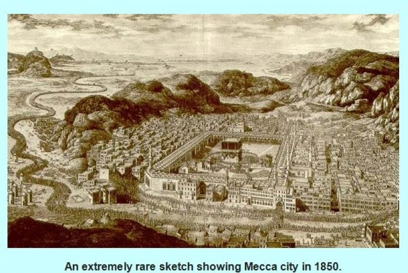 Suasana kota Makkah pada tahun 1850