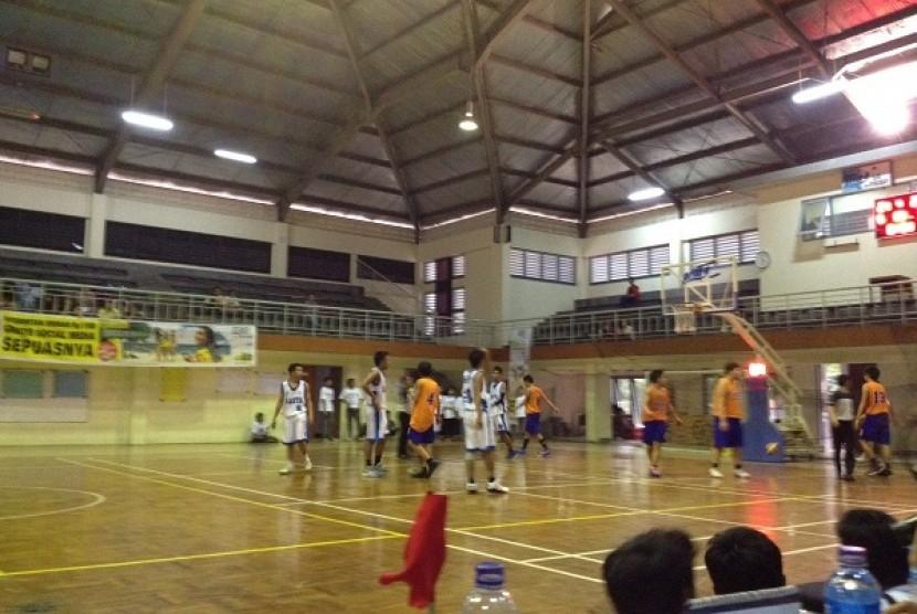 Suasana pertandingan olahraga di SMA 87 Jakarta