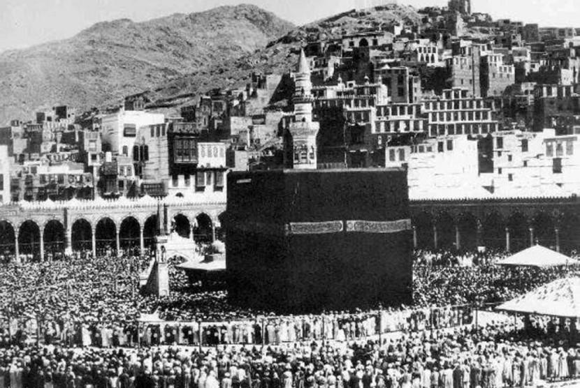 suasana Makkah di masa puncak musim haji tempo dulu