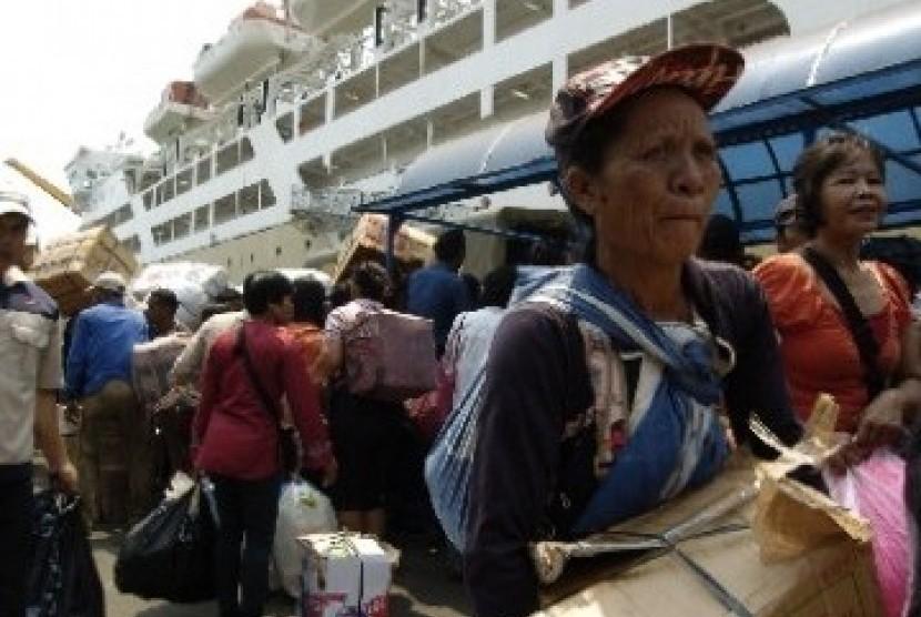 Suasana mudik di Pelabuhan Tanjung Priok (ilustrasi).