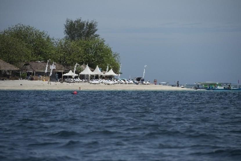 Suasana pantai di Pulau Gili Air, Nusa Tenggara Barat (ilustrasi)