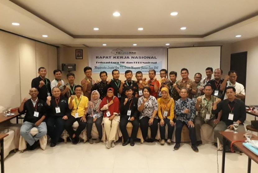 Suasana rakernas Federasi Guru Teknologi Informasi dan Komunikasi (TIK) dan Keterampilan Komputer Pengolahan Informasi  (KKPI) 2017.