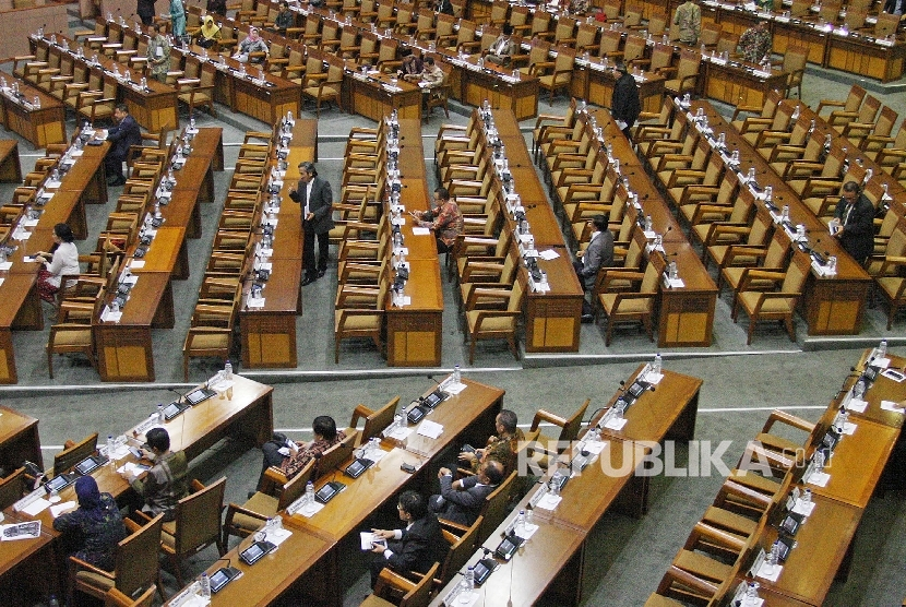 Suasana rapat paripurna DPR.  (ilustrasi)