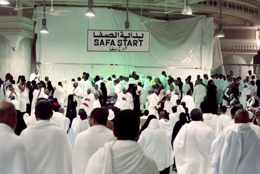 Suasana Sa'i di Masjidil Haram