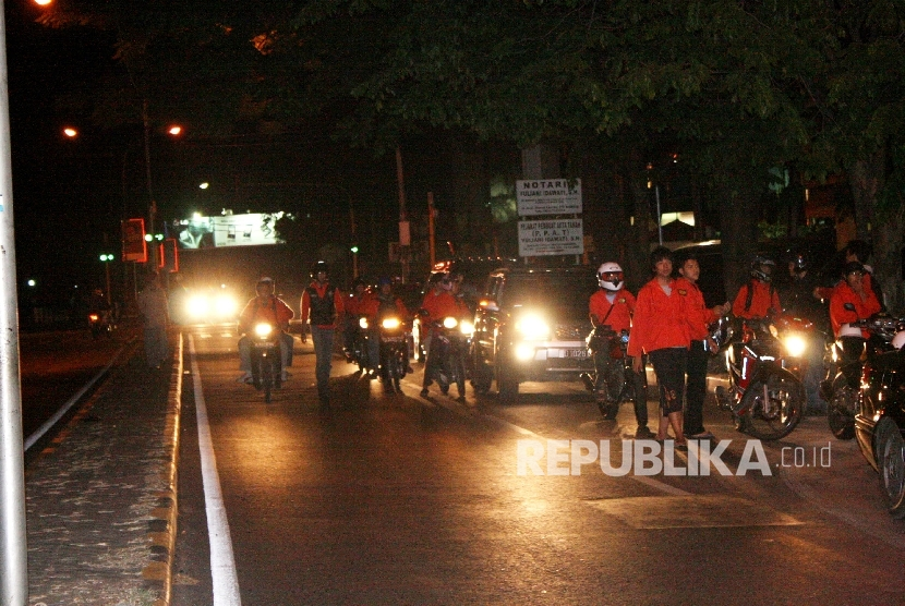 Suasana sahur on the road (ilustrasi)