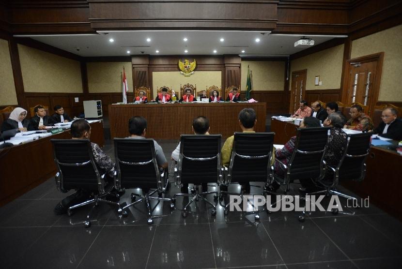 Sidang kasus korupsi KTP elektronik (KTP-el) di Pengadilan Tipikor, Jakarta.