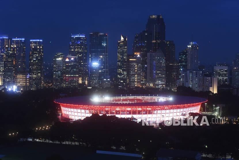 Suasana Stadion Utama Gelora Bung Karno (SUGBK) di Jakarta, Kamis (11/1).
