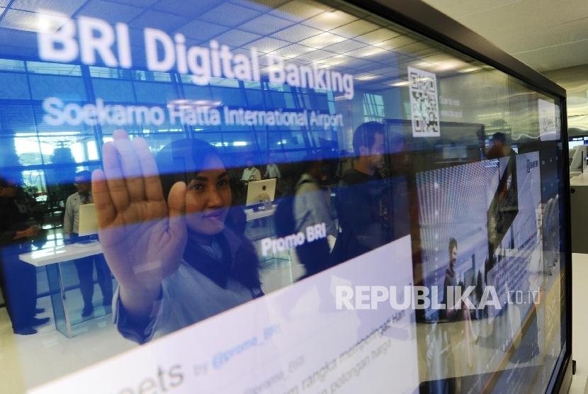 Suasanai BRI Digital Banking di Terminal 3 Ultimate bandara Soekarno Hatta, Tangerang, Banten, Kamis (6\10).