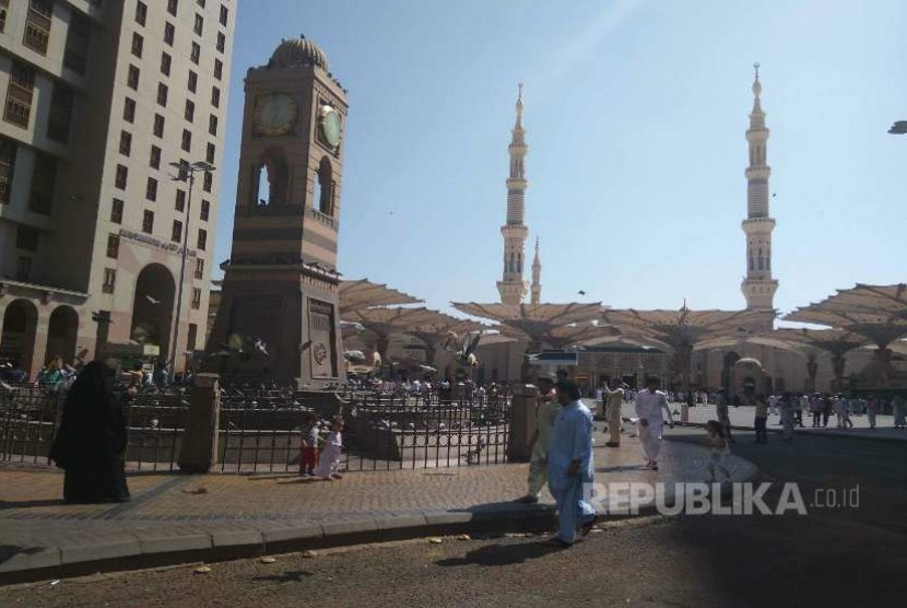 Sudut Kota Madinah mulai lengang setelah ditinggal jamaah  haji