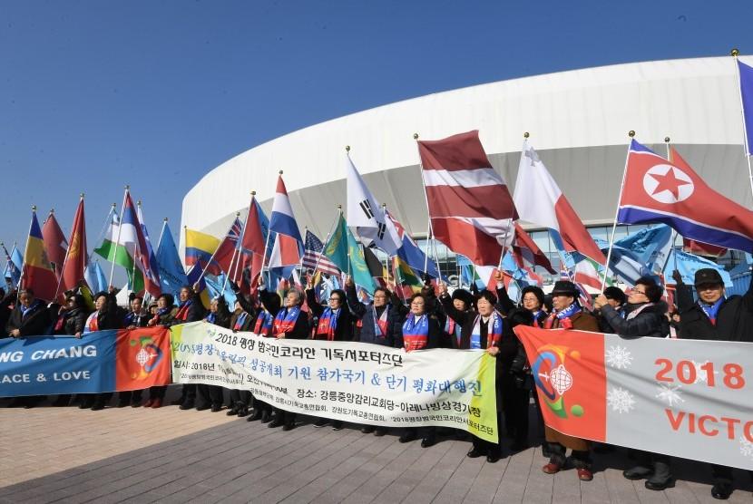 Korea Gunakan Satu Bendera di Olimpiade Musim Dingin