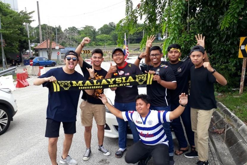 Suporter Malaysia di Stadion Shah Alam.