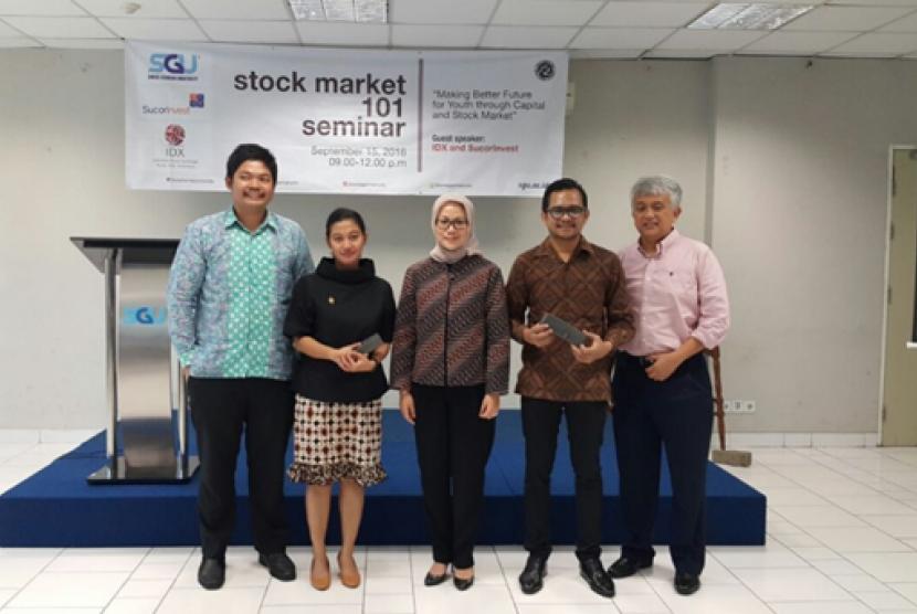 Swiss German University (SGU) bekerja sama dengan Sucor Invest dan Bursa Efek Indonesia (BEI) menggelar Seminar Bursa Saham dan Pasar Modal.