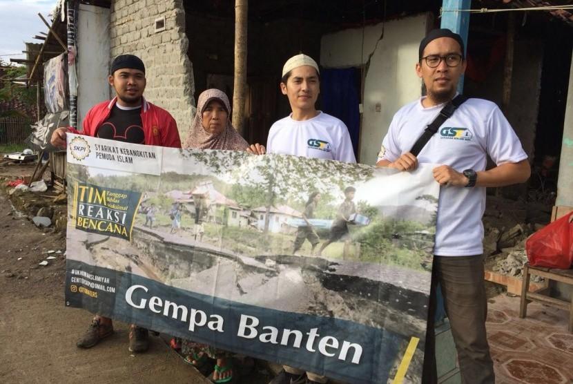 Syarikat Kebangkitan Pemuda Islam (SKPI) langsung menerjunkan tim untuk memberikan bantuan terhadap korban gempa yang terjadi di Lebak, Banten,  Selasa (23/1).