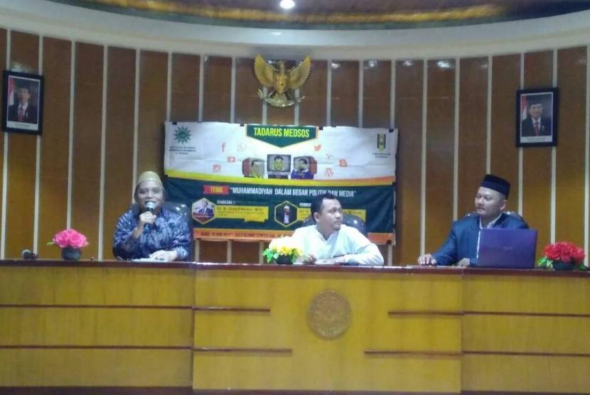 Tadarus Medsos bertema Muhammadiyah Dalam Gegar Politik dan Media.