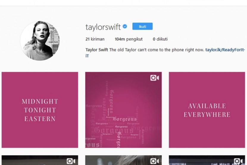 Taylor Swift Bocorkan Potongan Lagu Baru