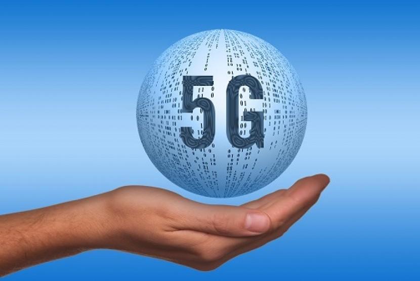 Teknologi jaringan 5G. Ilustrasi