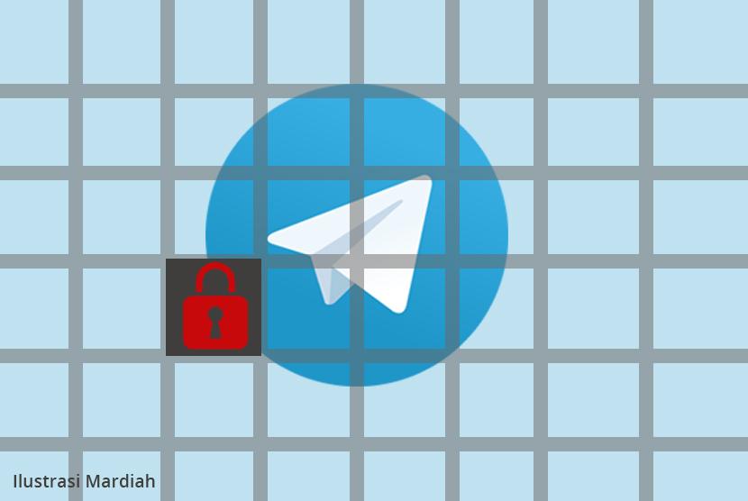 Telegram diblokir (ilustrasi).