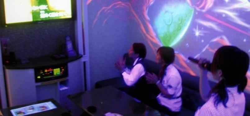 Tempat karaoke. Ilustrasi.