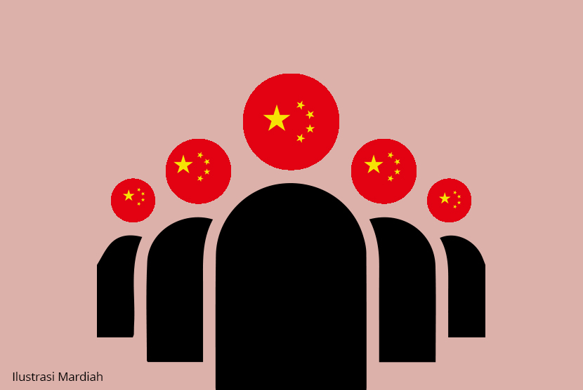 Tenaga Kerja Dari Cina ( ilustrasi)