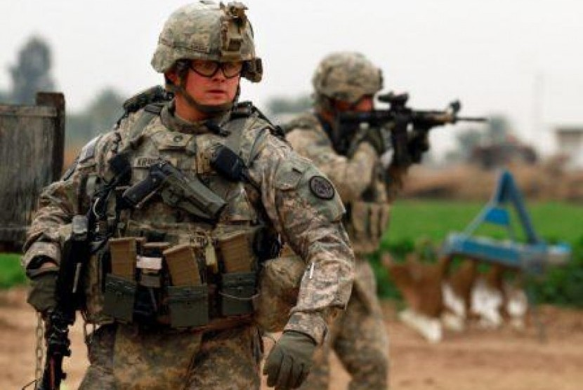 Tentara AS di Baghdad,Irak.